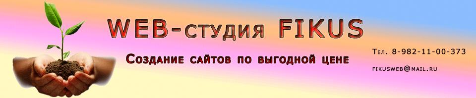 Шапка сайта Web-студии Fikus